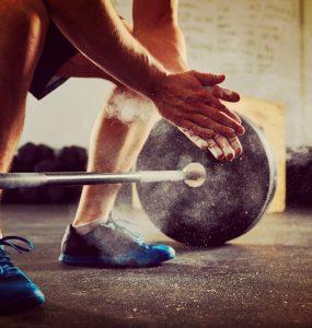 Olympische barbell met gewicht