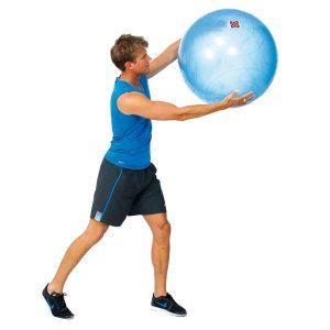 Doorzichtige fitnessbal
