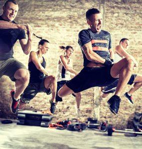 Groepsles in de sportschool