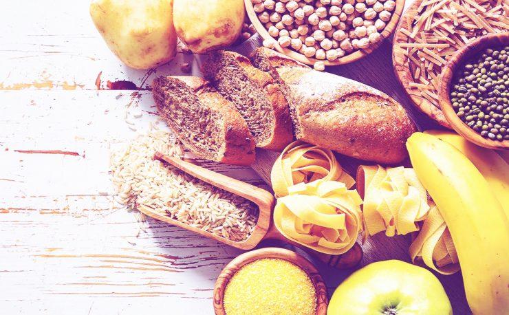 Voeding met veel gezonde koolhydraten