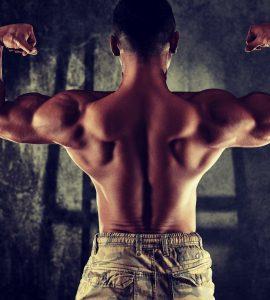 De barbell shrug richt zich op het trainen van de bovenkant van de rug