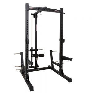 Barbarian half rack + lat pulley