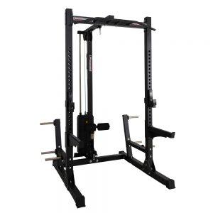 Barbarian half rack + lat pulley met 125 kg gewichtstapel