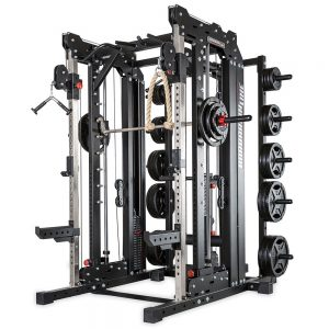 Barbarian smith cable rack met gewichtstapels + lat pulley