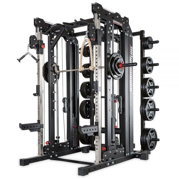Barbarian smith cable rack met gewichtstapels + lat pulley