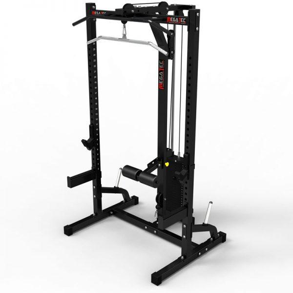 MegaTec Half Rack + Lat Pulley met Gewichtstapel