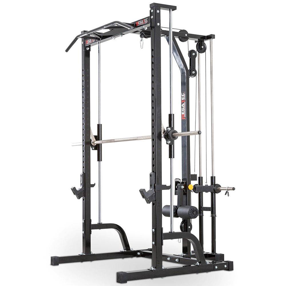 MegaTec Smith Machine + Lat Pulley