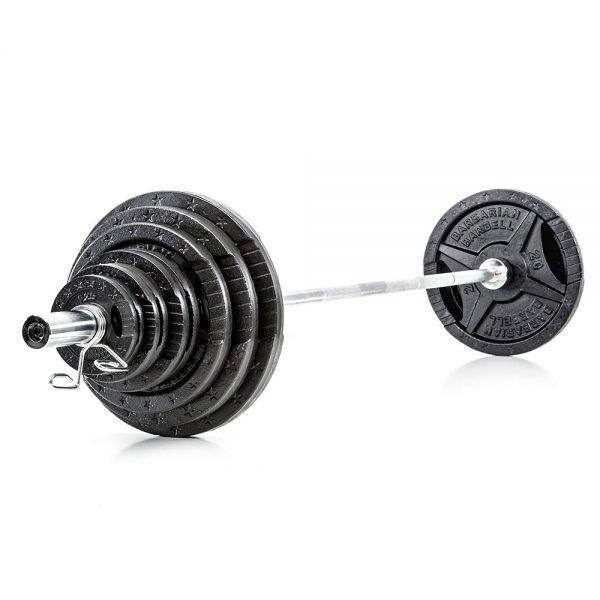 Barbarian Olympische Halterset 140 kg Gietijzer