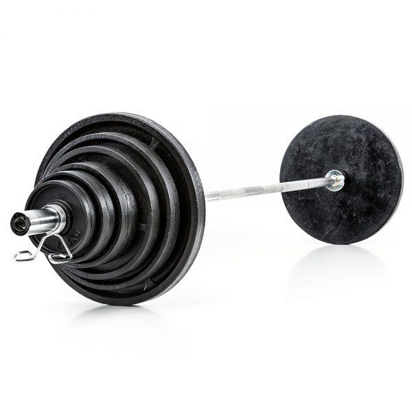 Olympische Halterset 140 kg Gietijzer