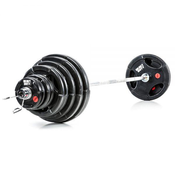 Heavy Duty Olympische Halterset 140 kg Rubber