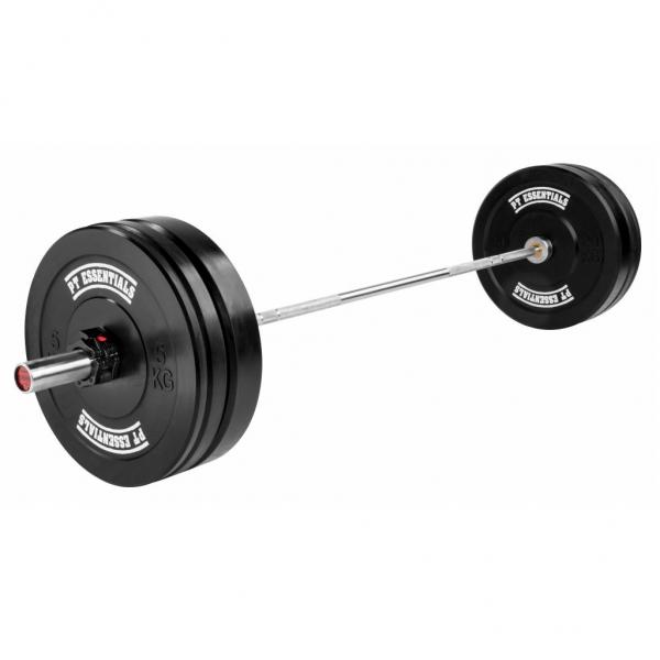 PTessentials Crossfit Halterset 90 kg Rubber