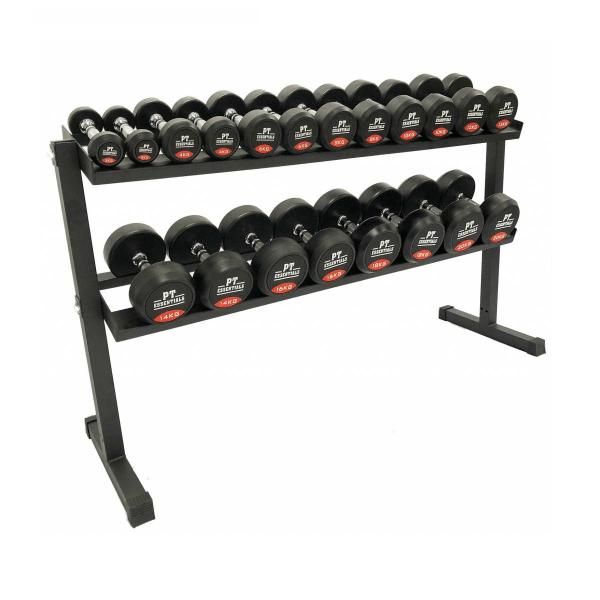 PTessentials Hexa Dumbbellset 2 t/m 20 kg + Opbergrek