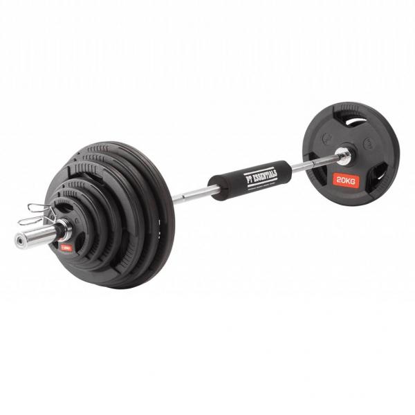 PTessentials Olympische Halterset 127,5 kg Rubber