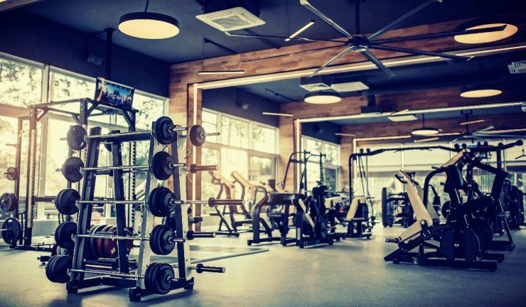 Interieur van een sportschool