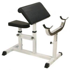 Gorilla Sports Biceps Curl Bank Wit