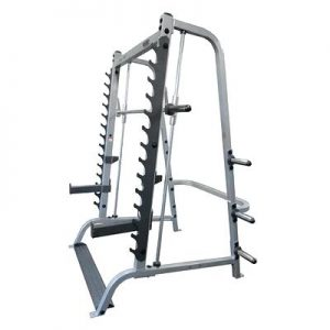 Zijaanzicht van de Body-Solid GS348Q Smith Machine