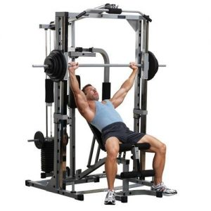 Powerline Smith Machine PSM144X met gewichtstapel + Lat Pulley
