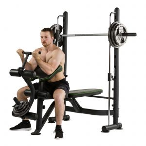 Biceps unit van de Tunturi SM60 Smith Machine