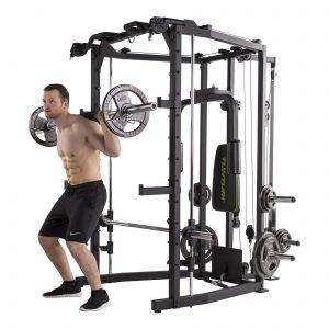 Barbell squat met de Tunturi SM80 Smith Machine